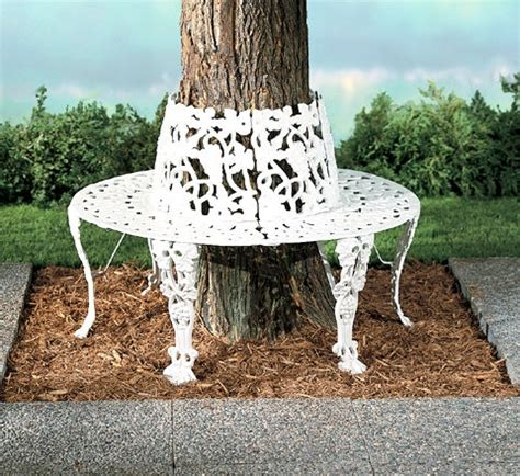 wrought iron tree bench around a tree wrought iron bench fyeahlandscapedesign