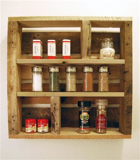 diy spice rack from wood pallet diy pallet wood spice rack pallets designs