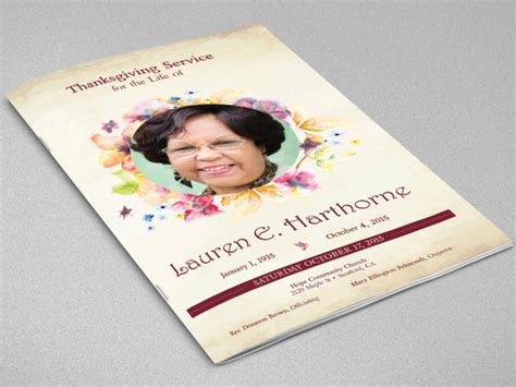 20 Funeral Booklet Templates Free Psd Ai Vector Eps Format Download Free Premium Templates Program Booklet Design Template