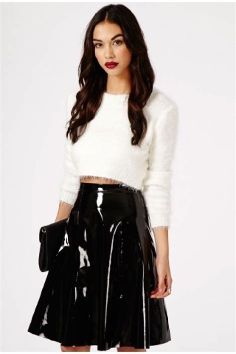 missguided mikako pvc midi skirt we want