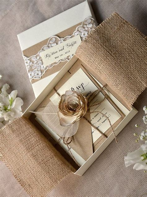 Wedding Invitations In A Box by Amazing Collection Of Wedding Invitation Card Box For