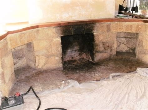 cleaning a fireplace in canford cliffs dorset tile