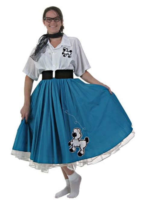 blue 50 s costumes womens poodle skirt costume