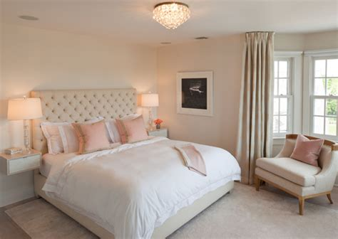 pink  beige bedroom transitional bedroom robyn karp interiors