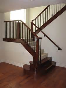 wood and iron railings traditional staircase las