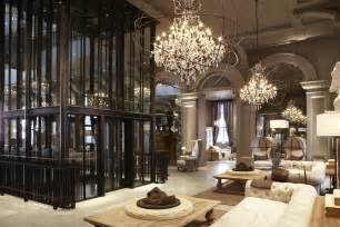 Rooms With Chandeliers A Tour Of The Restoration Hardware Flagship Store In