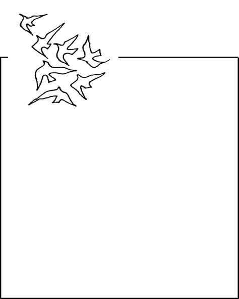 Word Vorlage Trauer briefpapier trauer mit zierrahmen
