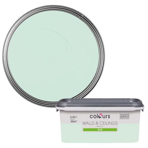 colours duck egg silk emulsion paint 2 5l departments