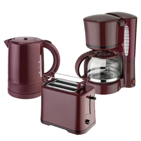 kaffeemaschine wasserkocher toaster fr 252 hst 252 cksset 3 teilig toaster wasserkocher 1 real