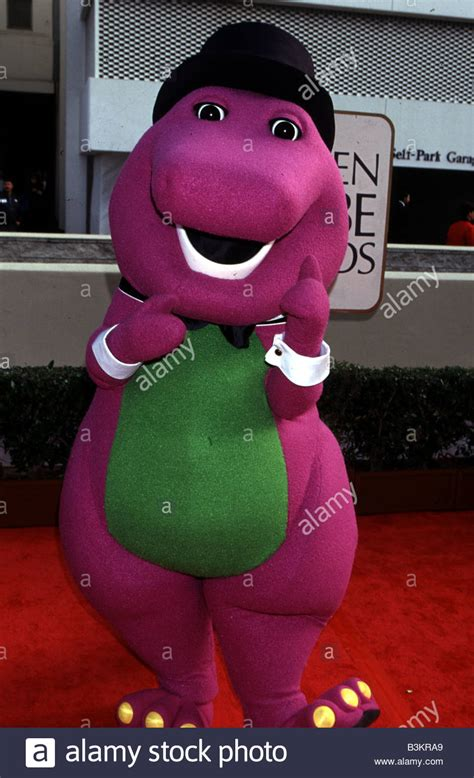 barney size character from the 1998 polygram - Barney Stock