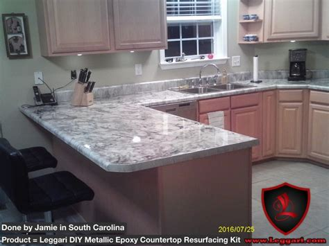 diy metallic epoxy countertop resurfacing kits modern