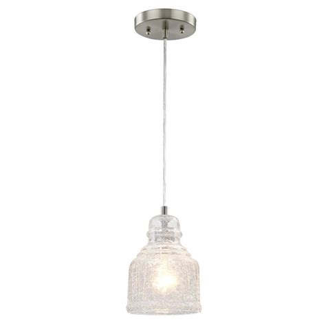 Pendants Lights Westinghouse 1 Light Brushed Nickel Mini Pendant 6309200 The Home Depot