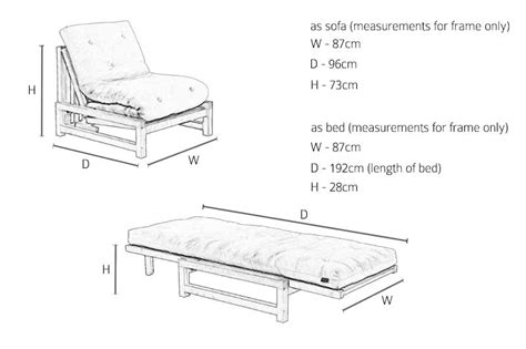single seater solid oak sofa bed futon company