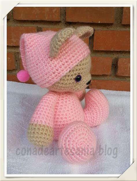 to pattern en espanol osita amigurumi con pijama y gorrito rosa patr 243 n gratis