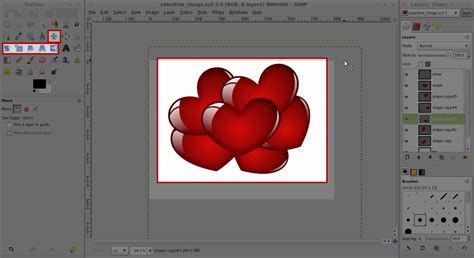 typography tutorial in gimp gimp tutorial just in time for valentines ushasree s blog
