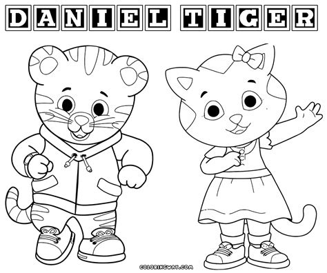 coloring page daniel tiger daniel tiger coloring pages coloring home