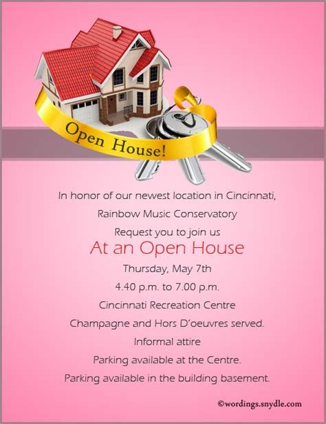 open house invitation wording home inauguration invitation card matter in english infoinvitation co