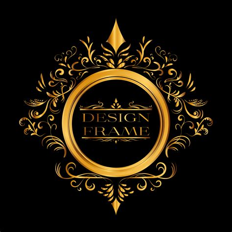 Logo Gold Black luxury logo logotype rich gold frame logo design luxury logo and logos