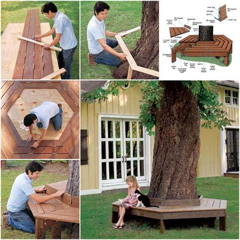 comment fabriquer un banc autour d un arbre des id 233 es