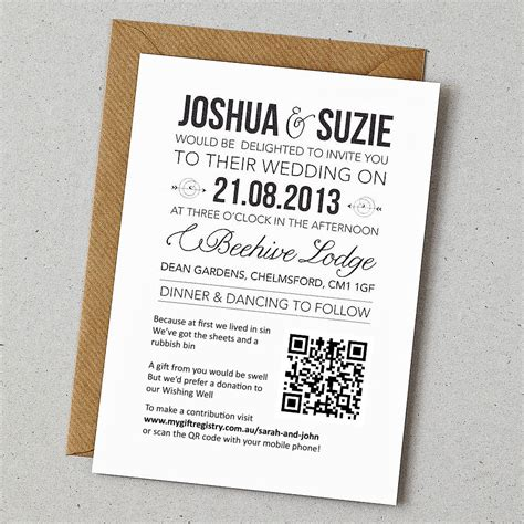 Wedding Registry Invitation by Exle Invitation My Gift Registry