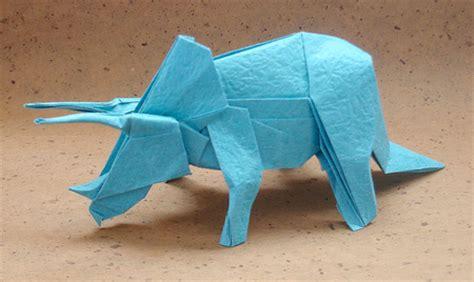 Triceratops Origami - amazing origami sculptures