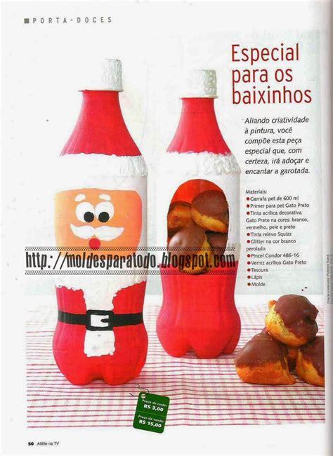 imagenes de santa claus reciclado moldes para todo porta dulces santa claus
