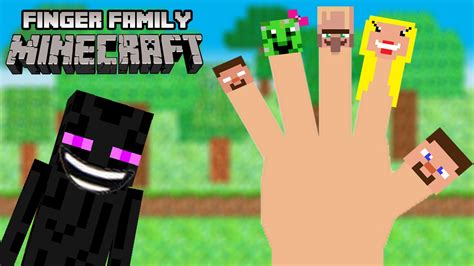 minecraft finger family minecraft nursery rhyme song