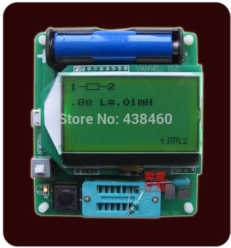 esr no capacitor aliexpress buy new graphics display m328 version inductor capacitor esr table tester meter