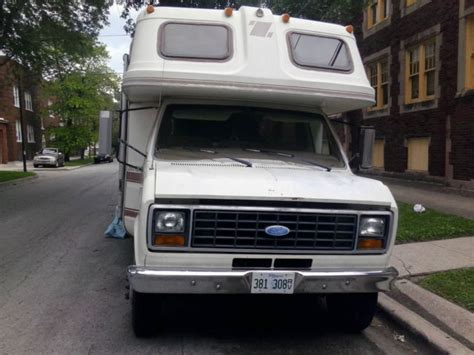 1984 rv ford cutaway van motorhome econoline 350 v8 7 5l 260 rdb mobile traveler