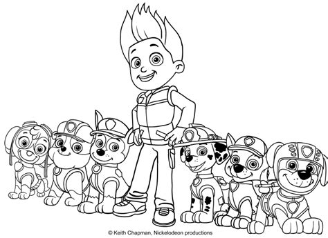 paw patrol team coloring pages the paw patrol team coloring page