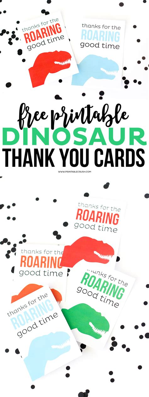 Dinosaur Thank You Cards Printable