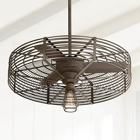 Ceiling Fan With Cage Light 32 Quot Vintage 1 Light Bendlin Cage Ceiling Fan 1h576 1h578 82303 7h585 Ls Plus