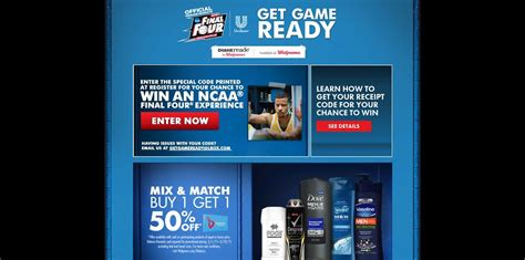 Walgreens Sweepstakes - ncaa get game ready sweepstakes at walgreens unilevergetgameready com walgreens