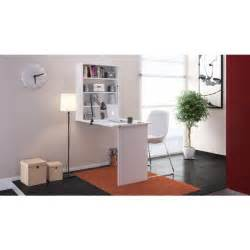 small bureau rabattable contemporain blanc l 150 cm