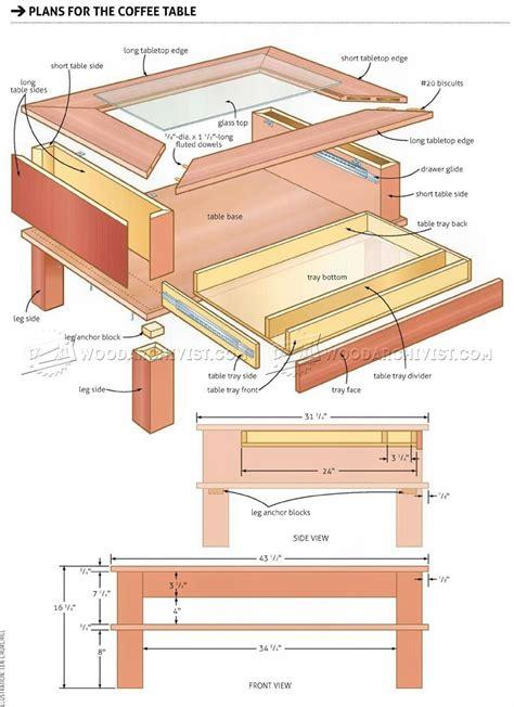 display coffee table plans woodarchivist