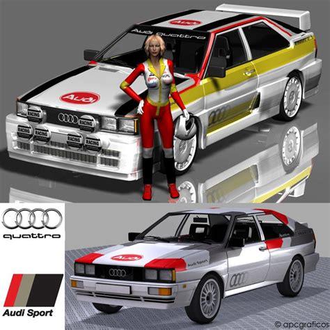 Audi Quattro Decals by Rally Decals For Audi Quattro
