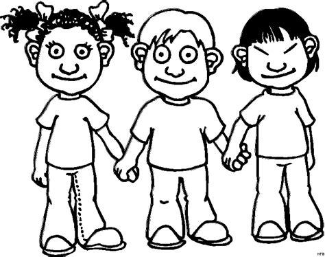 kinder halten hand ausmalbild amp malvorlage comics
