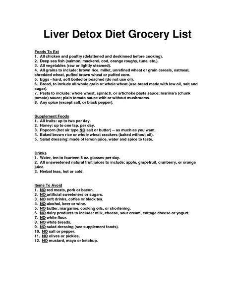 Liver Detox Foods List by Here S My Suggested Liver Detox Diet Grocery List