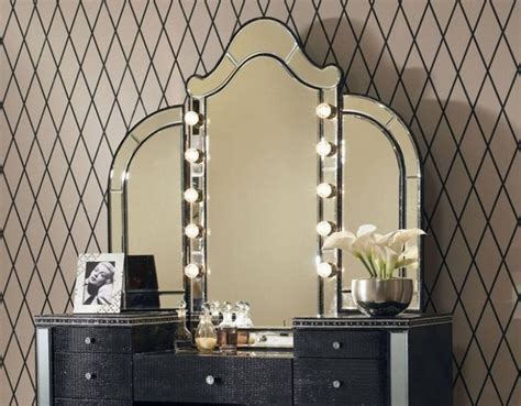 Vanity Mirror With Lights For Bedroom Bedroom Modern Bedroom Furniture Design Of Black Vanity Designed With Mirrors Also Drawers And