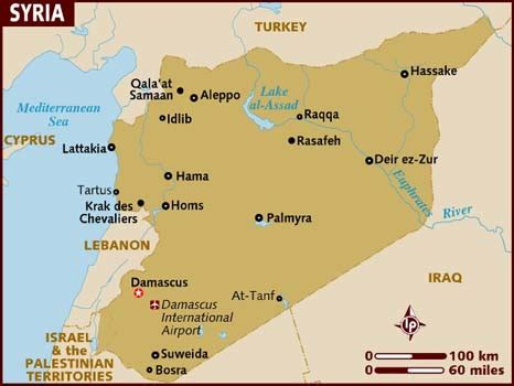 Syria On Map by 2012middleeast Syria