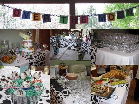 Cow Themed Baby Shower by A Cow Jumped The Moon Themed Baby Shower Baby
