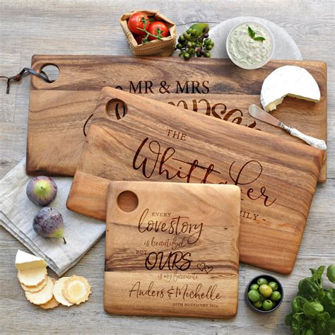 personalised engraved wooden chopping cheese serving boards