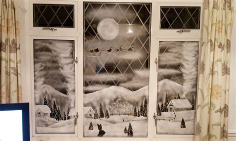 snow on windows creates stunning winter landscapes on windows using snow spray swns