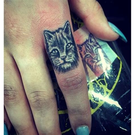 cat finger tattoo 28 cat finger tattoos