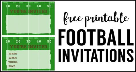 Football Invitation Template by Football Invitation Template Free Printable