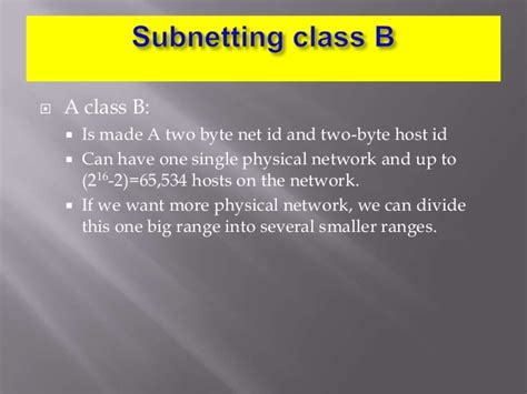 subnetting tutorial powerpoint ccna ppt