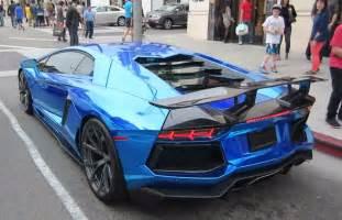 Lamborghini Aventador Chrome Blue Chrome Blue Pur Wheels Lamborghini Aventador