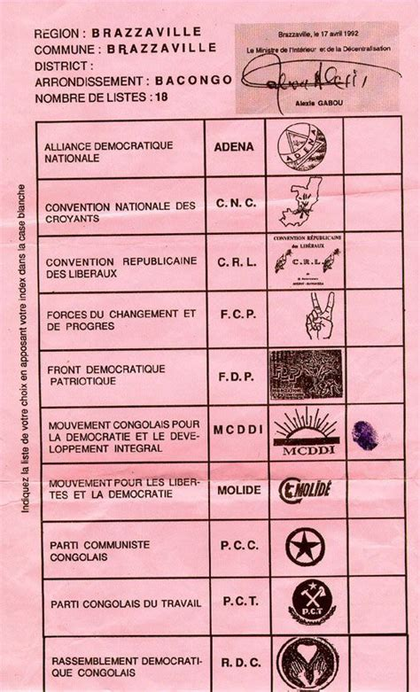 Vote Bank Politics In India Essay by Sle Ballot From Congo Brazzaville Ballot Design Congo And Sle Ballot