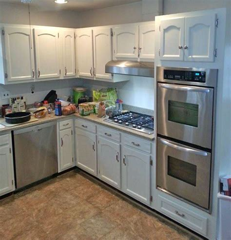 Kitchen Cabinets Painted in Antique White Milk Paint