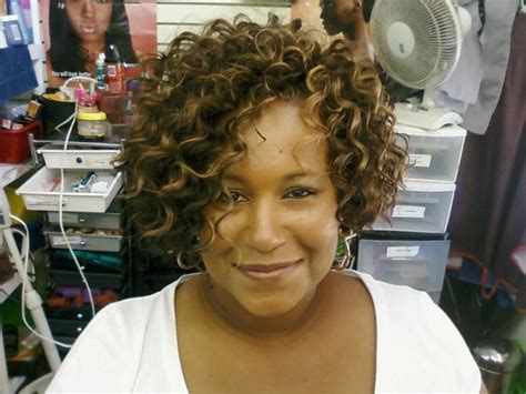 sew in weave short hair atlanta curly bob bobs and curly sew in on pinterest